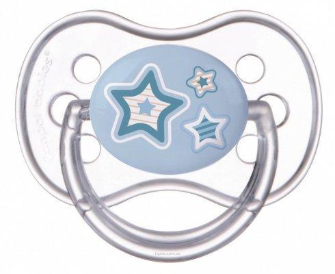 Пустышка Canpol Newborn baby силикон от 6 месяцев голубой 22/563