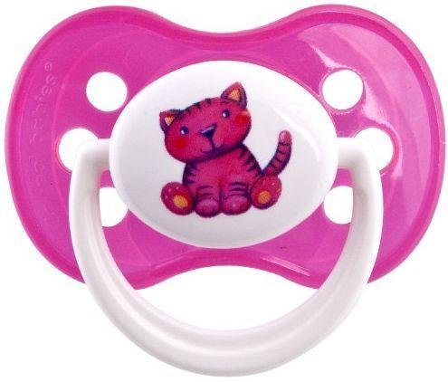 Пустышка симметричная Canpol Milky силикон, 6-18 мес., арт. 22/542, цвет розовый, форма: котенок пустышка симметричная canpol milky силикон 0 6 мес арт 22 541 цвет салатовый форма мишка