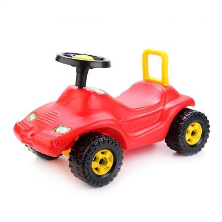 Каталка-машинка Совтехстром ГОНКА пластик от 3 лет на колесах красный У438 каталка машинка совтехстром полиция голубой от 3 лет пластик у440