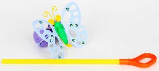 Каталка на палочке Совтехстром БАБОЧКА пластик от 3 лет съёмная ручка разноцветный У514 каталка на палочке s s toys вертолет 23х16х13см
