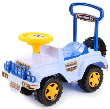 Каталка-машинка Совтехстром ПОЛИЦИЯ пластик от 3 лет на колесах голубой У440 каталка машинка r toys bentley пластик от 1 года музыкальная красный 326