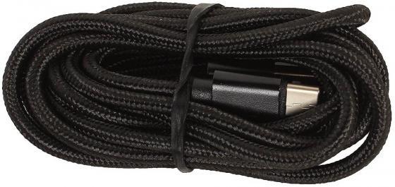 Кабель USB 2.0 Type-C 2м Jet.A JA-DC32 круглый черный кабель ginzzu lightning usb 2 0 1 2м черный [gc 550b]