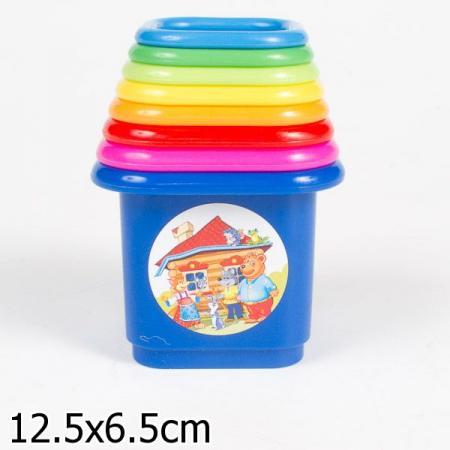 ПИРАМИДКА ТЕРЕМОК в кор.16шт развивающие игрушки стеллар пирамида теремок