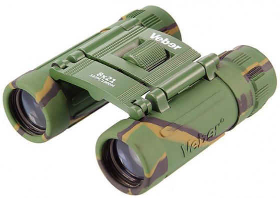 Бинокль VEBER Sport БН 8*21 черн 8x 21мм 6.6град бинокль veber 8x42 rf1200 22998 с лазерным дальномером
