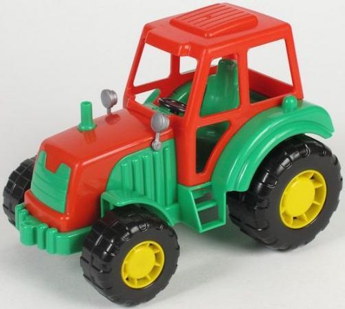 Трактор Полесье МАСТЕР зеленый 35240 полесье трактор мастер с полуприцепом лесовозом цвет синий желтый красный