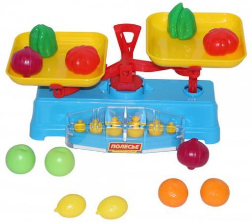 Игровой набор ПОЛЕСЬЕ Весы с набором продуктов 12 предметов