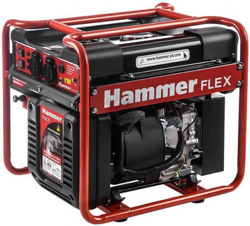 Бензоэлектростанция Hammer Flex GN3200i инверторная рамная 3.2 кВт 220В 50Гц бак 13л непрер.10,5ч бензоэлектростанция инверторная dde dpg1101i 0 9квт 220в бак 2 6л непрер 5ч