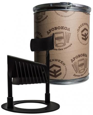 Дровокол GREENWEEN GW-DR3-T  ручной, раскол на 2 части, диаметр/высота: 350/280 мм, раскол на 2 ч.