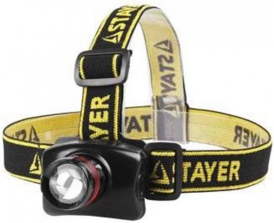 Фонарь STAYER 56566 professional налобный светодиодный 3Вт(140лм) регулируемый фокус 3 режима 3ааа