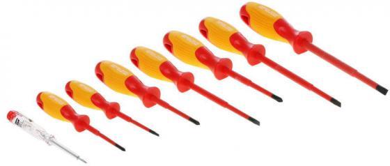 Набор отверток GROSS 12950 диэлектрических до 1000в тестер crmo двухкомпонентные рукоятки (8шт.) gross 12164 набор отверток 6шт