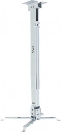 Фото - Кронштейн для проекторов VLK TRENTO-83w Белый, настенный/потолочный, max 15 кг, 3 ст своб/, наклон ±15°, от потолка 630-1000 мм кронштейн