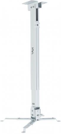 Кронштейн для проекторов VLK TRENTO-84w Белый, настенный/потолочный, max 15 кг, 3 ст своб/, наклон ±15°, от потолка 700-1200 мм кронштейн для проекторов vlk trento 81 черный потолочный наклонно поворотный до 15 кг