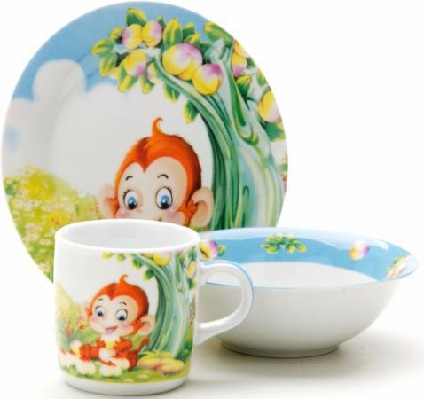 Набор посуды Loraine Обезьянка LR-25601 набор посуды для детей loraine lr 24021 слон