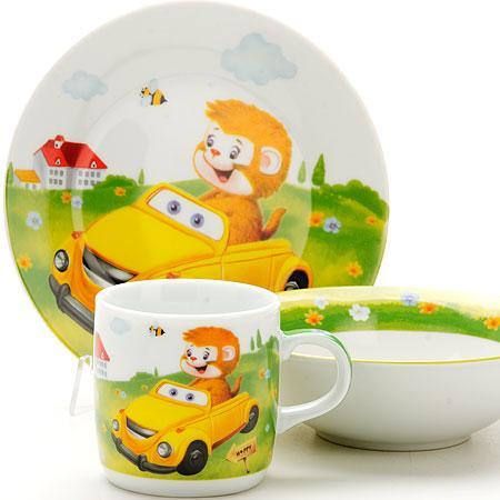 Набор посуды Loraine Машинка LR-25602 набор посуды для детей loraine lr 24021 слон