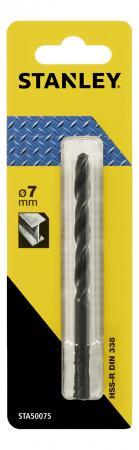 Сверло STANLEY STA50075-QZ Ф7x109x69мм по металлу HSS-R ножницы по металлу stanley 2 14 568 правые