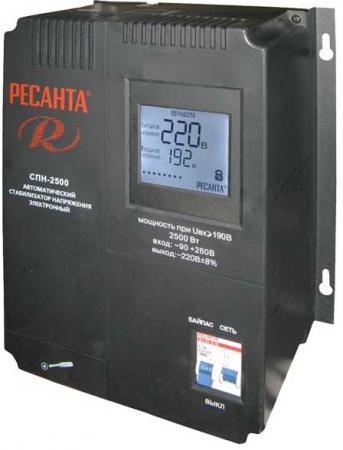 Стабилизатор РЕСАНТА СПН-3600 однофазный вх.90-260В вых.220±8% 2.5кВт 6.5кг
