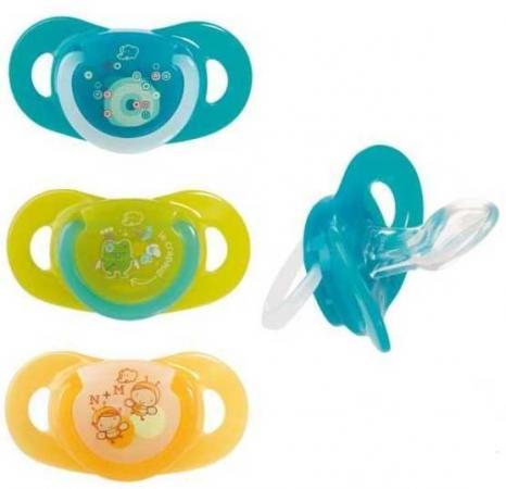 Комплект из двух латексных пустышек Bebe Confort серия Safe Dummlles с кольцом Т2 18 - 36 месяцев аксессуары для пустышек bebe jou пластиковая коробочка для гигиенических принадлежностей