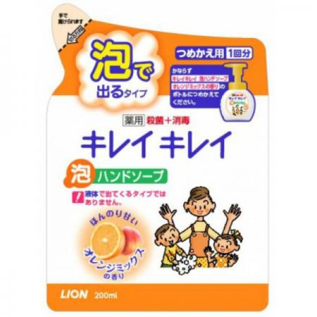 Мыло жидкое LION Kirei Kirei 200 мл с ароматом апельсина цена