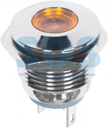 Индикатор металл O16 12В подсв/желтая LED REXANT
