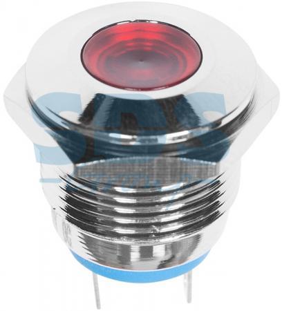 Индикатор металл O16 12В подсв/красная LED REXANT