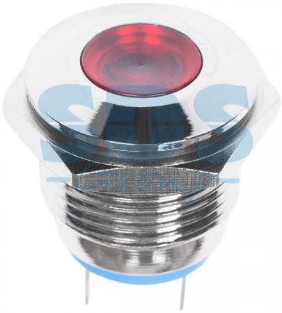 Индикатор металл O16 220В подсв/красная LED REXANT