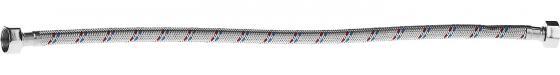 """Подводка гибкая ЗУБР 51005-G/G-050 для воды, оплетка из нержавеющей стали, г/г 1/2"""" - 0,5м цены"""