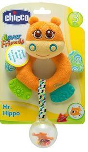"Игрушка-погремушка Chicco ""Бегемот Hippo"" ванна okt hippo 1 м 8437 фиолетовый"