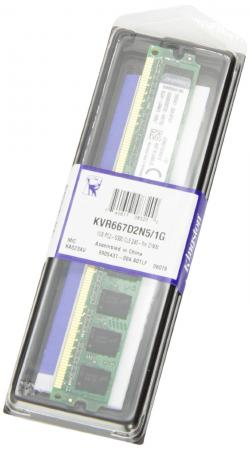 Оперативная память 1Gb PC2-5400/5300 667MHz DDR2 DIMM Kingston KVR667D2N5/1G