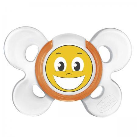 Пустышка Chicco Physio Comfort Smile, 1 шт., 12 мес., сил. 310210201 chicco physio comfort lumi пустышка силиконовая с 12 месяцев 1 шт