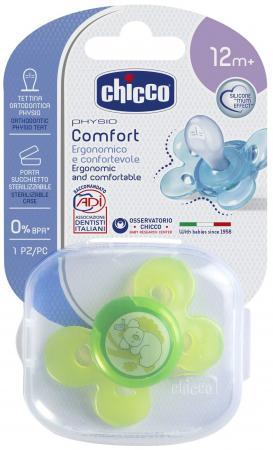 Пустышка Chicco Physio Comfort, 1 шт., 12+, силикон, Коала 310410125 chicco physio comfort lumi пустышка силиконовая с 12 месяцев 1 шт