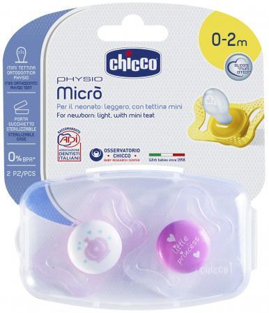 Пустышка Chicco Micro для принцессы, силик., 0-2 мес., 2 шт., арт. 310210175, рис. корона, нейтральн oodji 913fw005w 22728 2949f