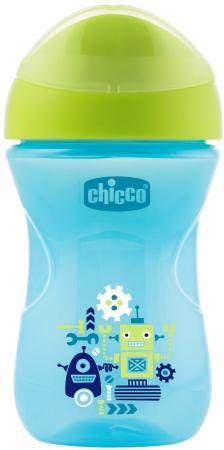 Поильник Chicco Easy Cup (носик ободок), 1 шт.,12 мес+, 266 мл., цвет синий, рис. робот, 340624221