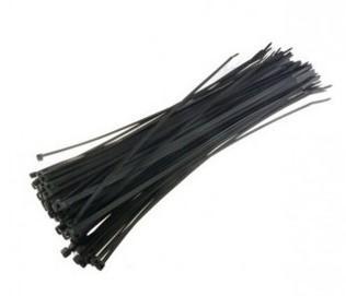 Cтяжка нейлон 2.5 х 250мм, черная, (100шт./уп.) cтяжка пластиковая gembird nytfr 250x3 6 250мм черный 100шт