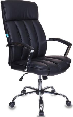 Кресло руководителя Бюрократ T-8000SL/BL+BLACK черный искусственная кожа крестовина хром кресло руководителя бюрократ ch 994axsn черный искусственная кожа крестовина хром
