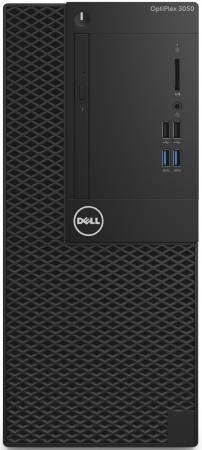 ПК Dell Optiplex 3050 MT i3 7100 (3.9)/4Gb/500Gb 7.2k/HDG630/DVDRW/Linux Ubuntu/240W/клавиатура/мышь/черный системный блок dell optiplex 3050 i5 6500 3 2ghz 4gb 500gb hd530 dvd rw win10pro клавиатура мышь черный 3050 6324