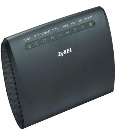 ADSL Zyxel AMG1302-T11C-EU01V1F 802.11bgn 2.4 ГГц 4xLAN черный белый