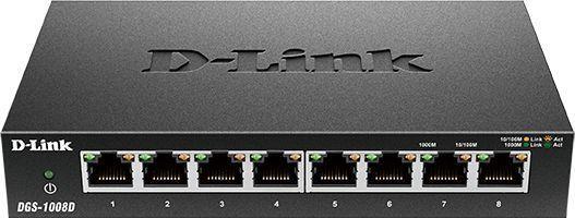 цена на Коммутатор D-Link DGS-1008D/J3A 8G неуправляемый