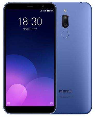 Смартфон Meizu M6T синий 5.7 16 Гб LTE Wi-Fi GPS 3G смартфон fly fs522 cirrus 14 синий 5 16 гб lte wi fi gps 3g midnight blue