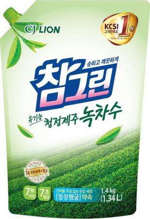 Средство для мытья посуды CJ Lion Chamgreen Зеленый чай 1340 мл бальзам для мытья посуды зеленый чай frosch 0 5 л