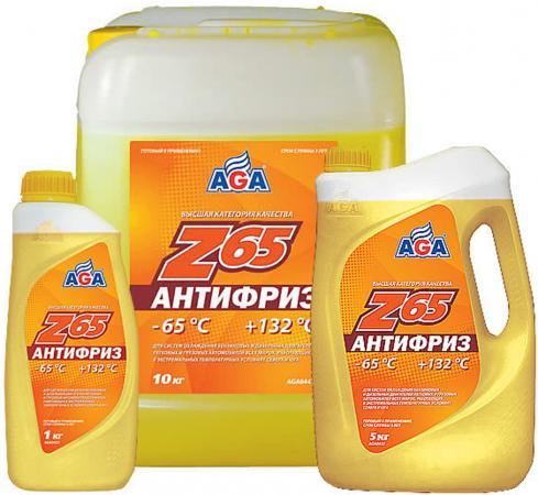 Антифриз готовый к применению -65С AGA AGA042Z желтый цены