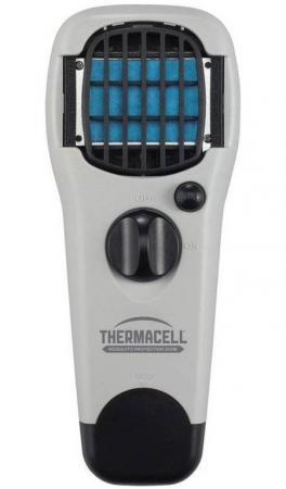 Прибор противомоскитный Thermacell Garden Repeller Grey (цвет светло-серый, в комплекте: прибор + 1 газовый картридж + 3 пластины)