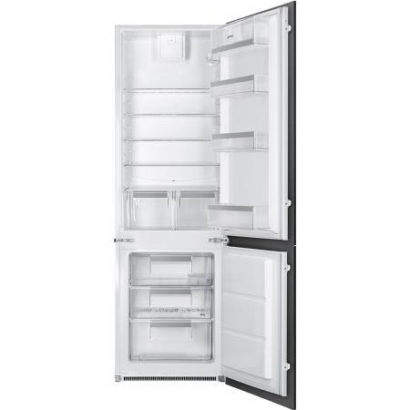 Встраиваемые холодильники SMEG/ 177.2 х 54 х 54.9 см, 202х75л, встраиваемый комбинированный холодильник
