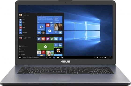 Ноутбук ASUS VivoBook 17 X705UF-GC011T 17.3 1920x1080 Intel Core i3-7100U 1 Tb 4Gb nVidia GeForce MX130 2048 Мб серый Windows 10 Home 90NB0IE2-M01240