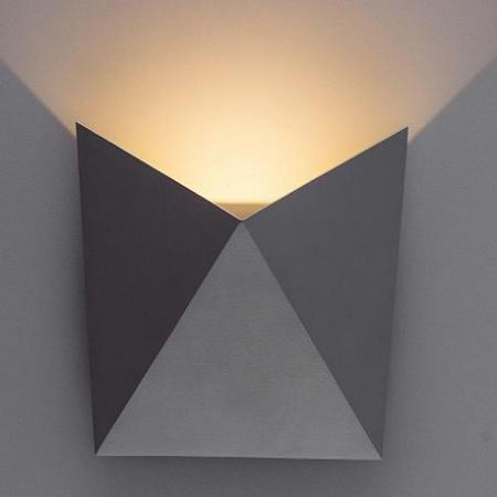 Настенный светодиодный светильник Arte Lamp Busta A1609AP-1GY бра arte lamp busta 1 х led 9 w a1609ap 1wh