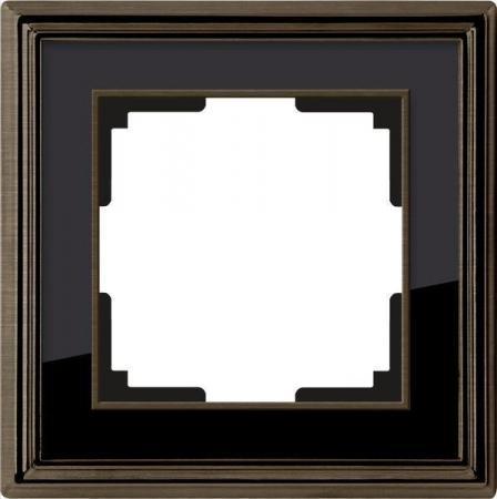 Рамка Palacio на 1 пост бронза/черный WL17-Frame-01 4690389103568
