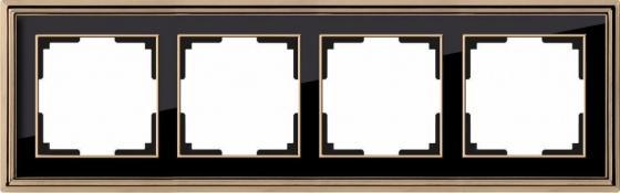 Рамка Palacio на 4 поста золото/черный WL17-Frame-04 4690389103735