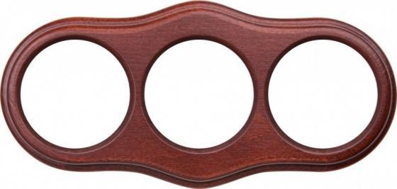 Рамка Legend Wave на 3 поста итальянский орех WL20-frame-03 4690389117114
