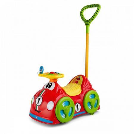 Каталка-машинка Chicco All Around Delux пластик от 18 месяцев с ручкой красный chicco машинка danny drift с д у