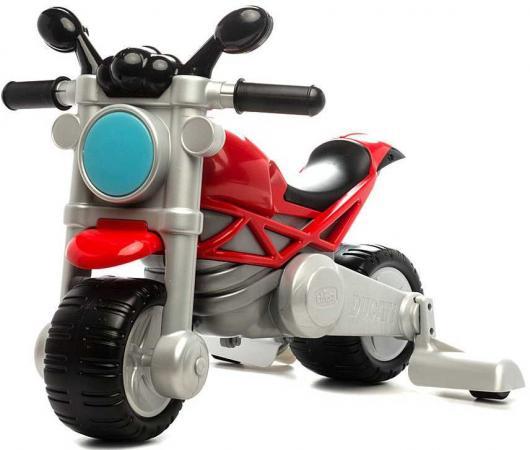 Каталка-мотоцикл Chicco Ducati Monster пластик от 18 месяцев на колесах разноцветный 3690 цена