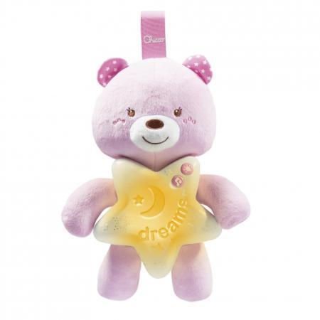Интерактивная игрушка Chicco Медвежонок с рождения розовый